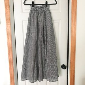 Gingham stretch Maxi skirt